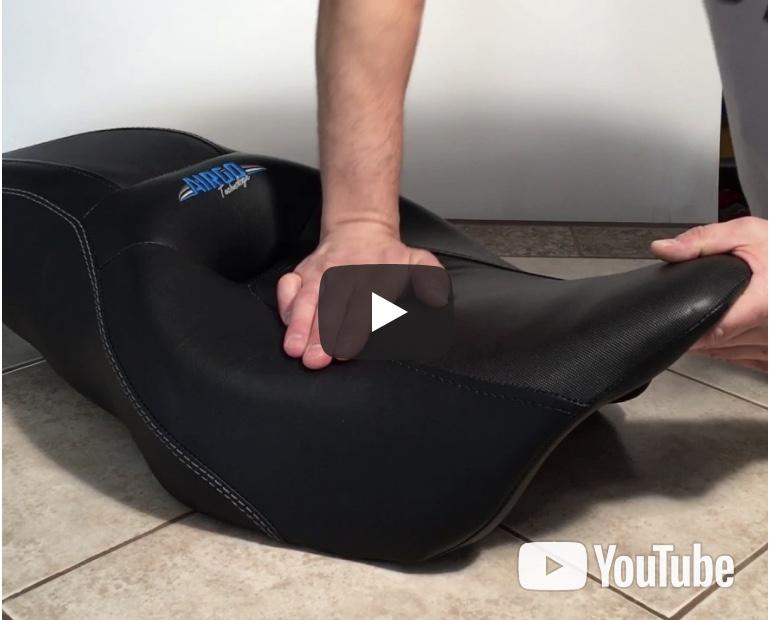 Siège de moto gonflable Airgo-Technologie